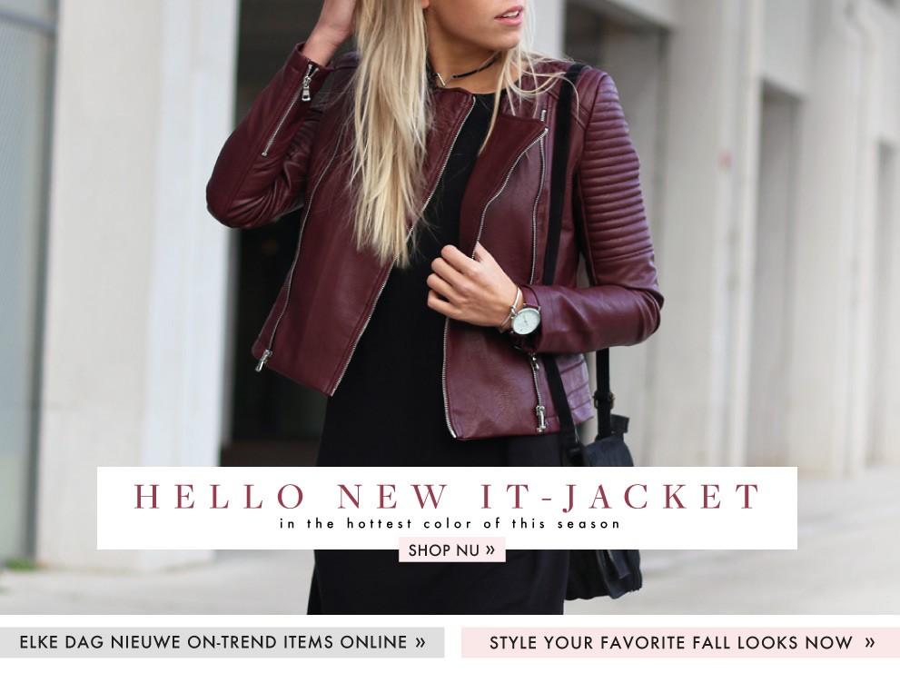 Bordeaux Leather Jacket van My Jewellery, jasjes