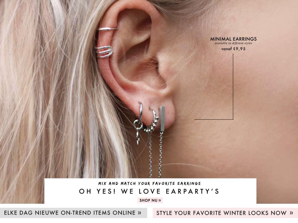 minimalistische oorbellen kopen van My Jewellery, oorbellen