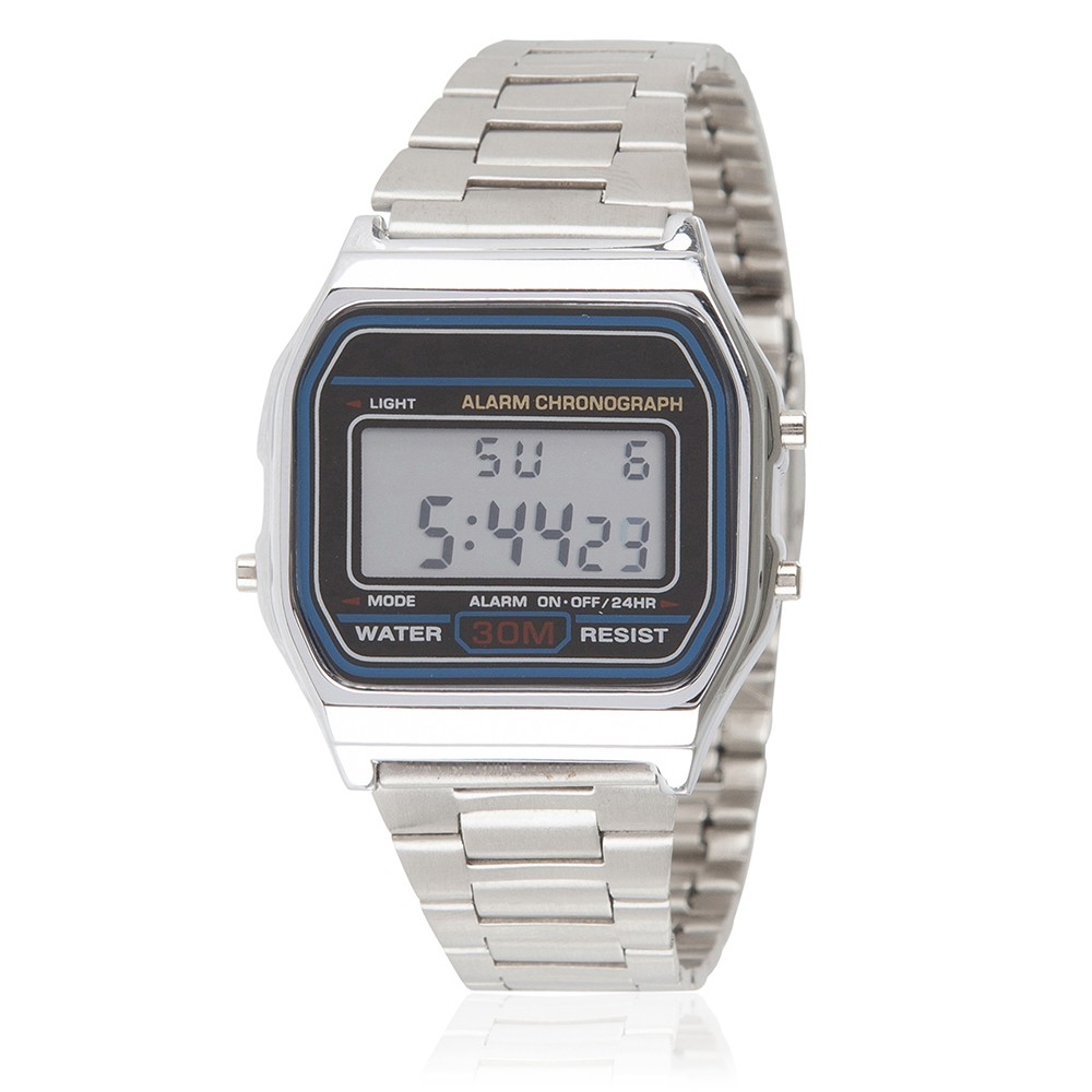 Classic Digital Watch - Silver
