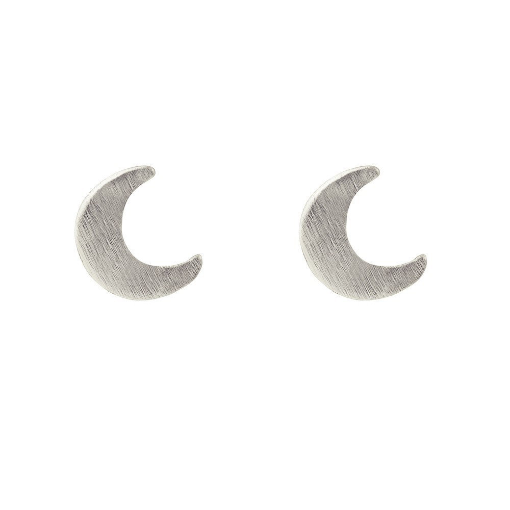 Moon Stud Gold Silver Rose