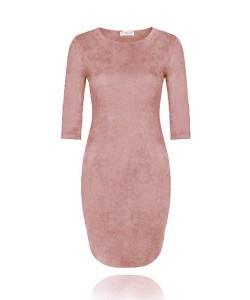 Suedine Dress - Old Pink