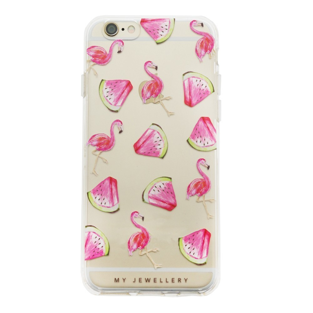 Watermelon & Flamingo Case iPhone-Samsung