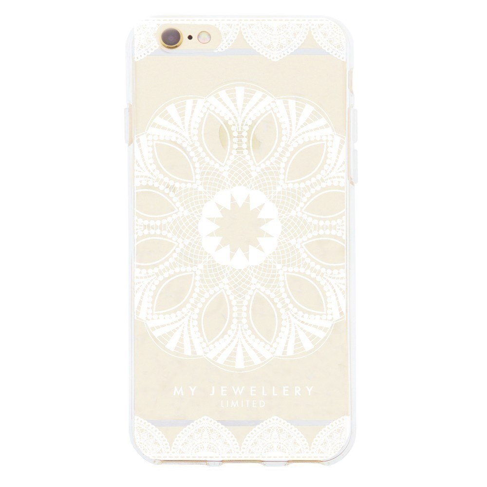 White Lace Case iPhone-Samsung