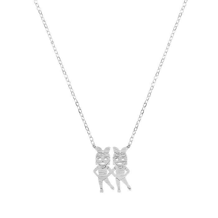 Dancing Girls Necklace - Gold/Silver
