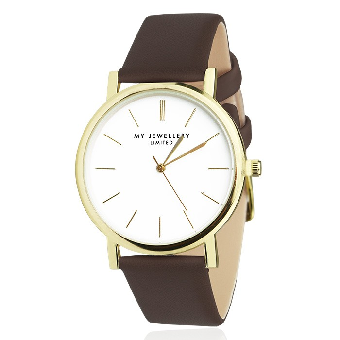 My Jewellery Limited Watch Brown Gold