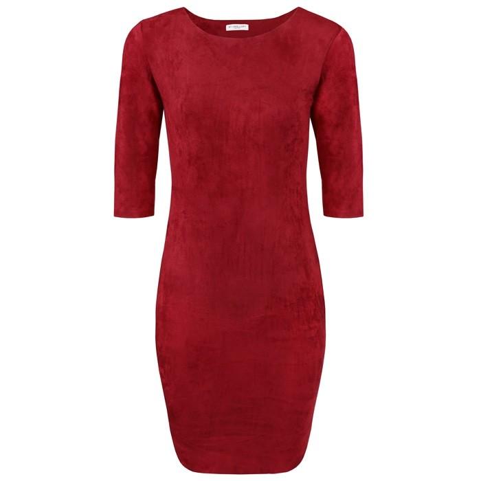 Suedine Dress Red