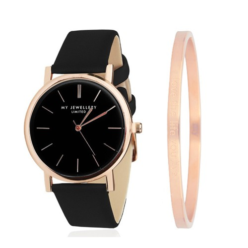My Jewellery Limited Watch & quote bangle - rose gold