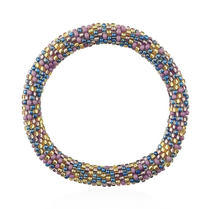 Little Beads Bracelet - Purple/Blue/Gold