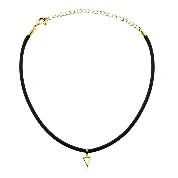 Open Triangle Choker Gold Silver