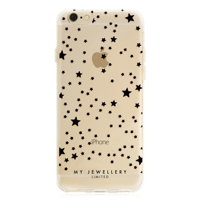 Little Stars Case Black Iphone