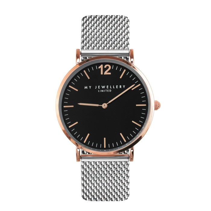 My Jewellery Bicolor Watch Limited Silver/Black - Rose