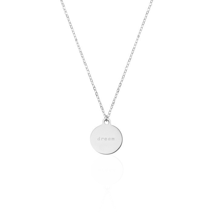 Coin Necklace Dream Gold Silver Rose