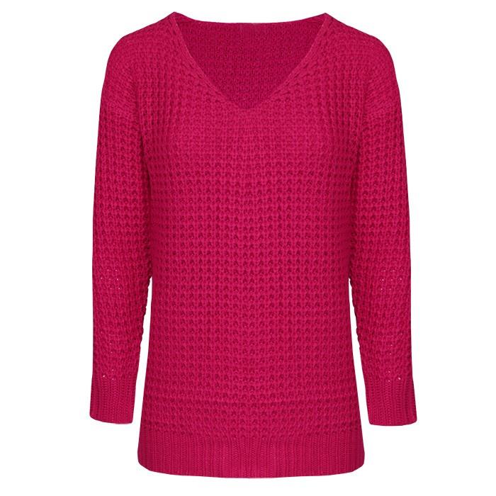 Knitted Sweater - Fuchsia