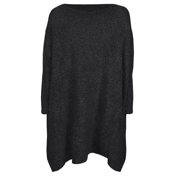 Mixed Oversized Sweater - Black