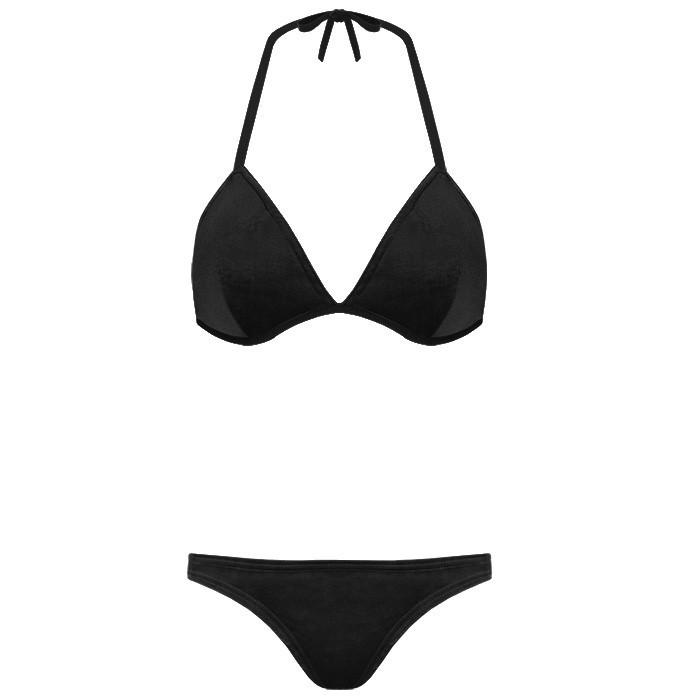 Velvet Bikini Black