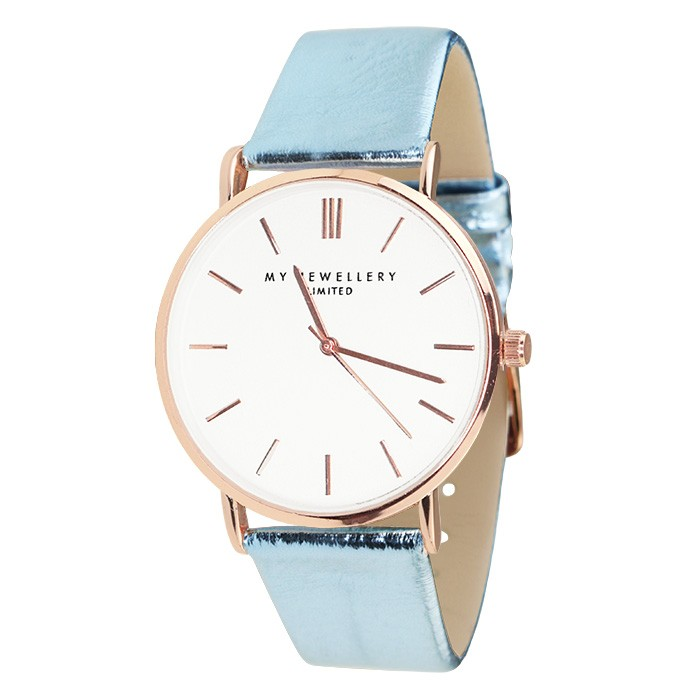 My Jewellery Limited Watch Metallic – Blue/Rose