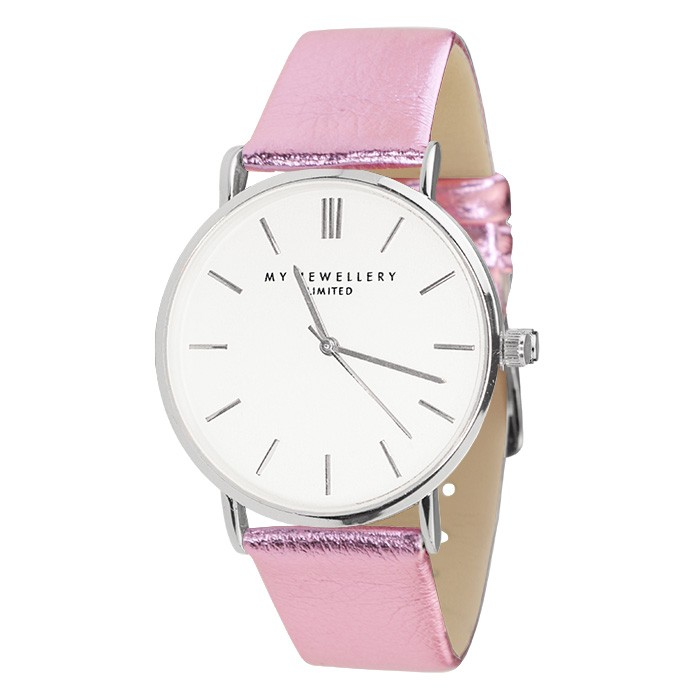 My Jewellery Limited Watch Metallic – Pink/Silver