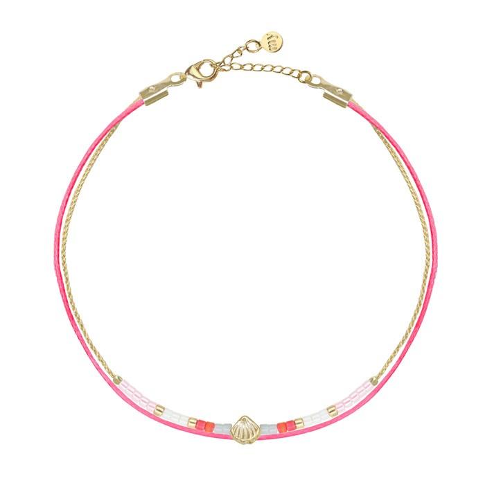 Afbeelding van Armbandje kraaltjes schelpje, Armbanden