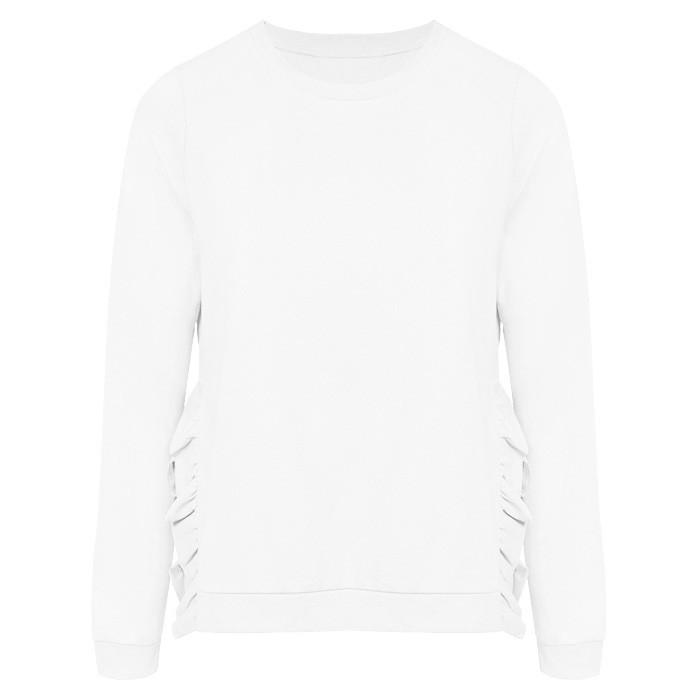 Ruffle Sweater White