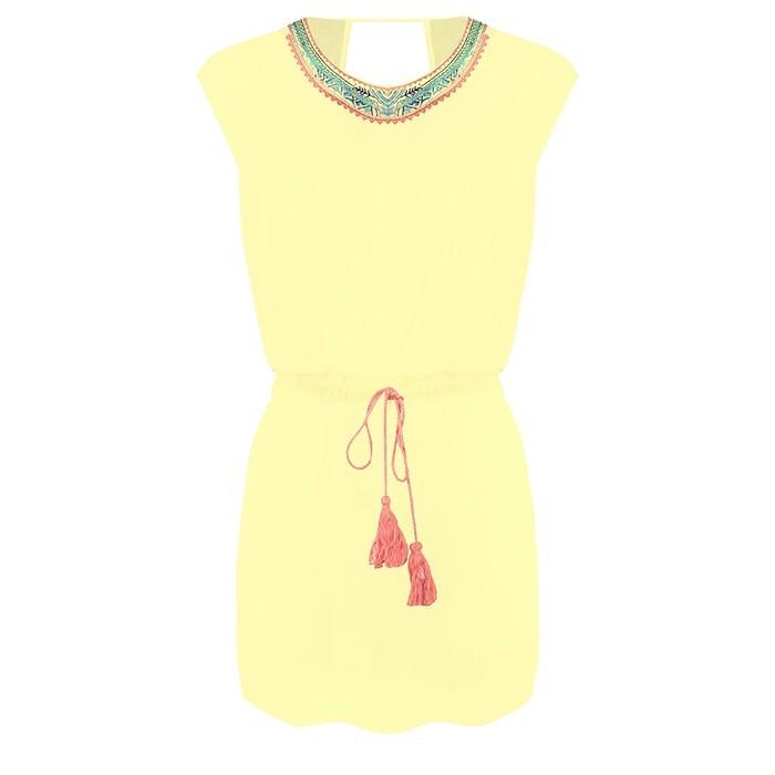 Patchwork Dress Yellow