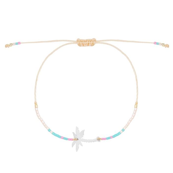 Palmtree & Bead Bracelet - Silver