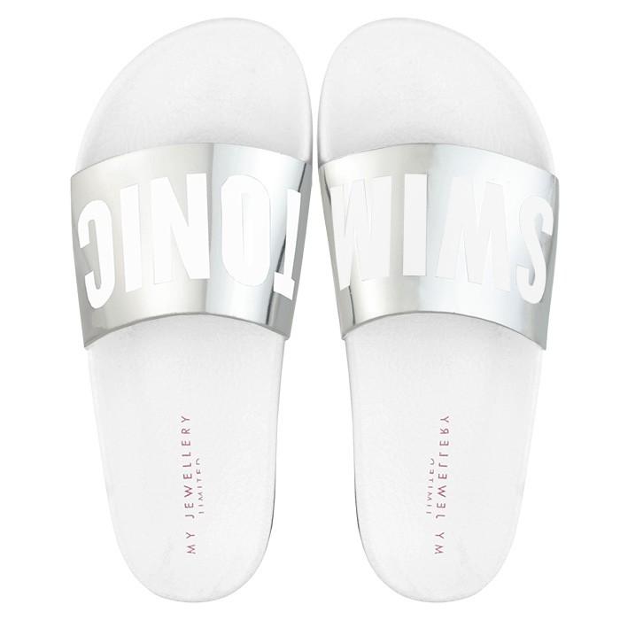 Swim Tonic Slippers Silver
