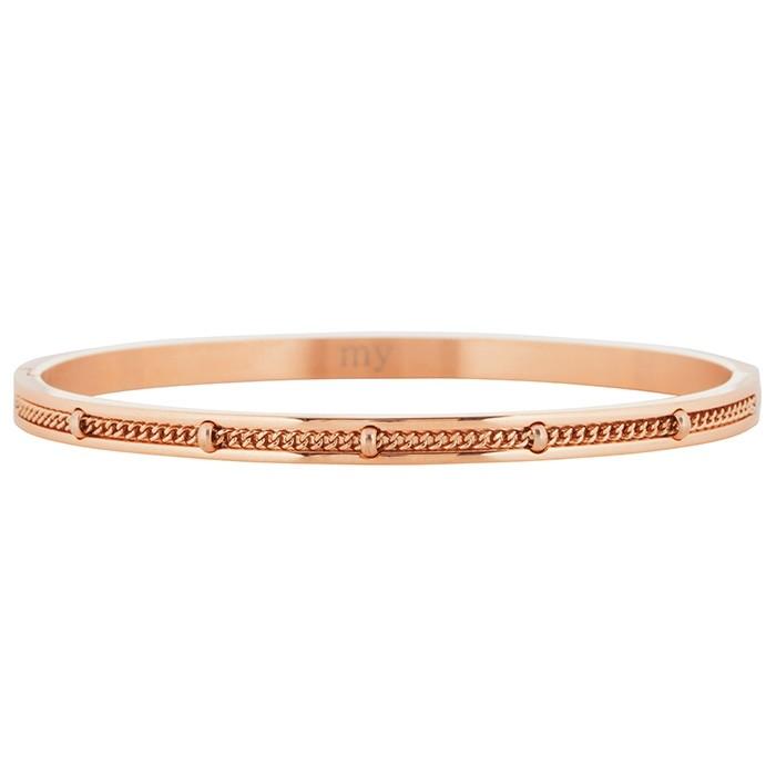 Afbeelding van Armband bangle ketting zilver goud rose, Armbanden