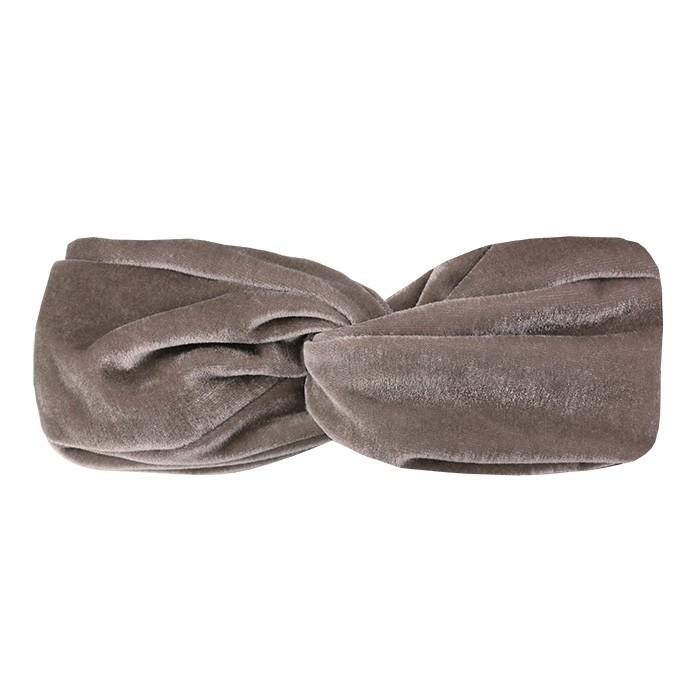Velvet headband taupe