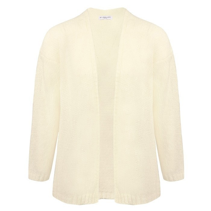 Knitted Oversized Cardigan - Crème