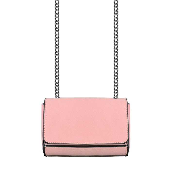 Crossbody Chain Clutch - Old Pink