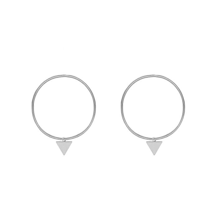 Triangle Hoop Earrings - Gold/Silver