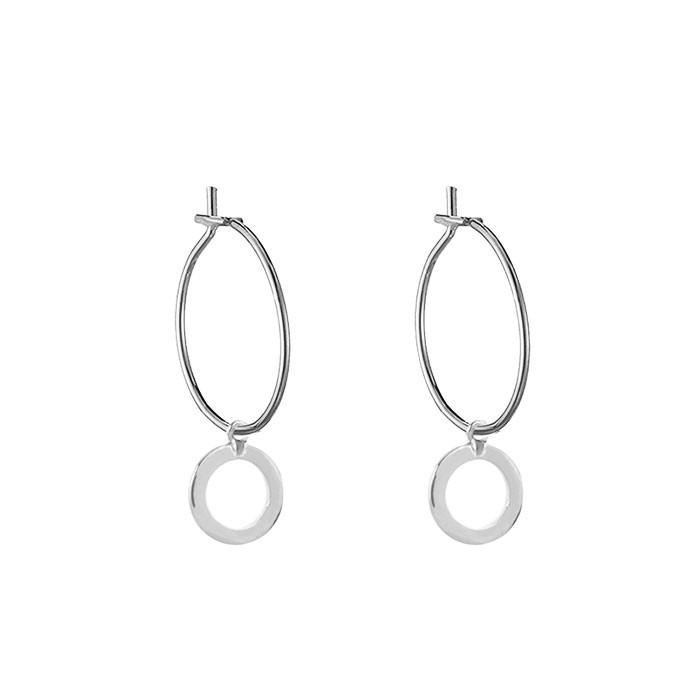 Open Circle Earrings - Gold/Silver