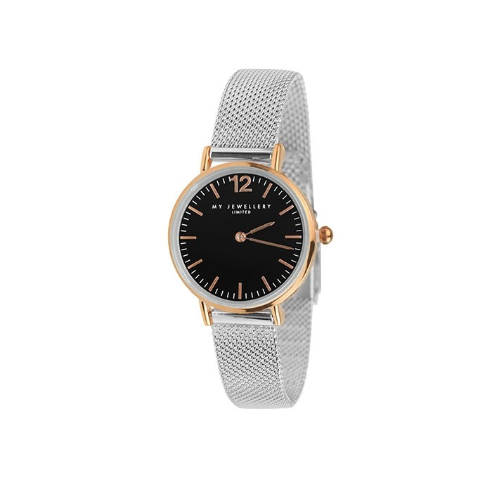 My Jewellery Small Bicolor Watch Silver Rose Black