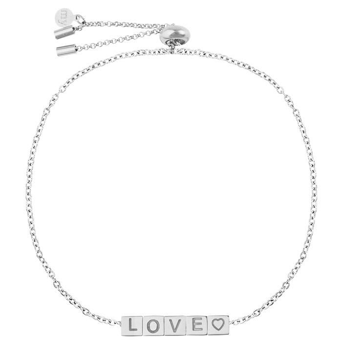 Cubes Love Bracelet - Gold/Silver
