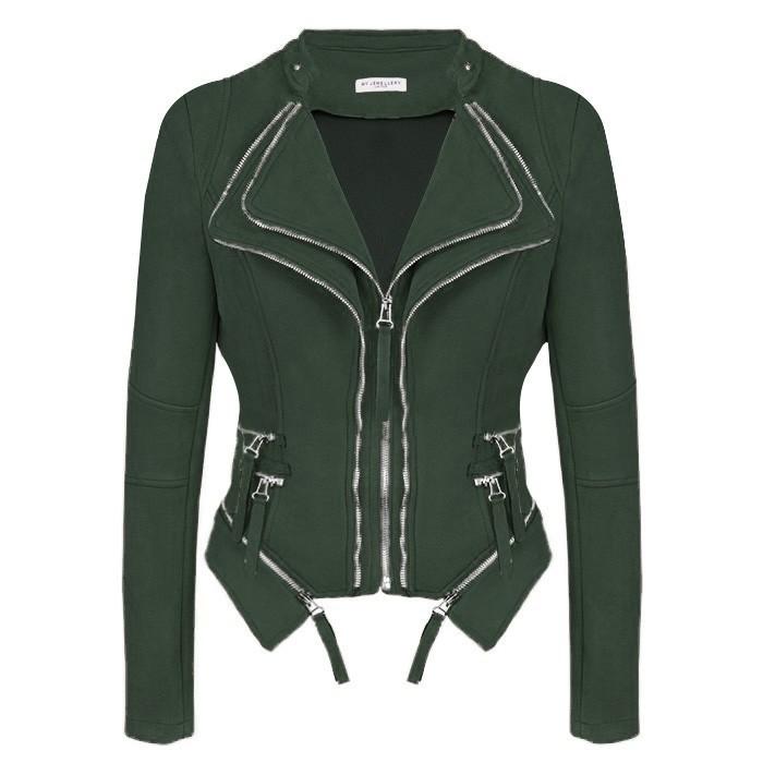 Suedine Biker Jacket 2.0 Green