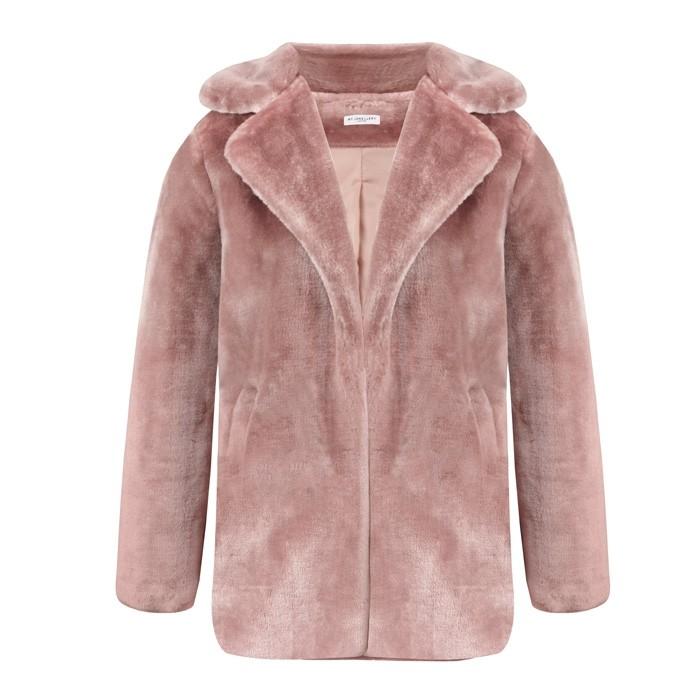 Faux Fur Coat - Pink