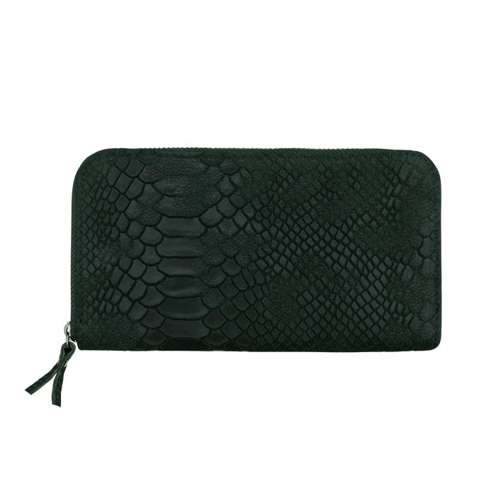 Croco Leather Wallet Green