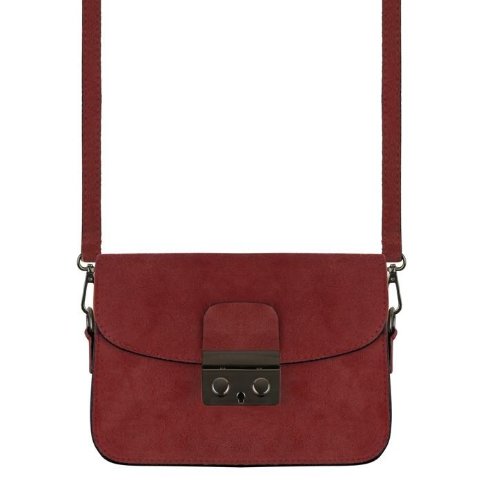 Suede Small Bag - Burgundy