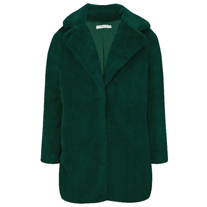 Faux Fur Coat Green