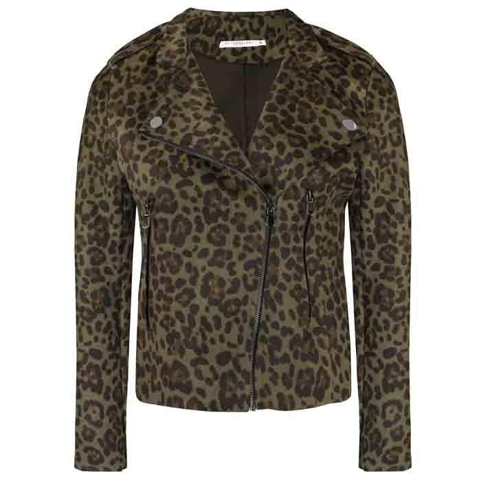 Leopard Biker Jacket 2.0 - Black/Army