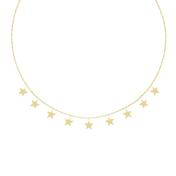 Short Star Necklace - Gold/Silver