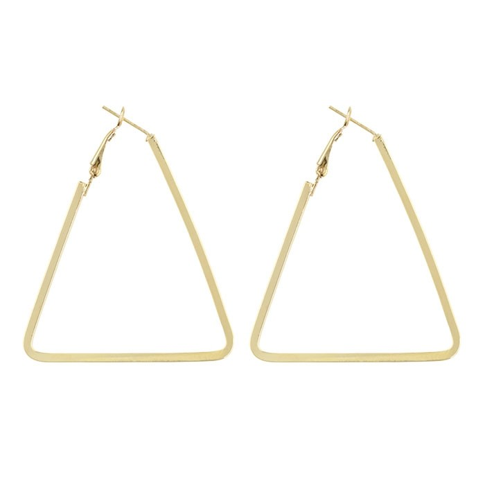 Big Triangle Earrings - Gold/Silver