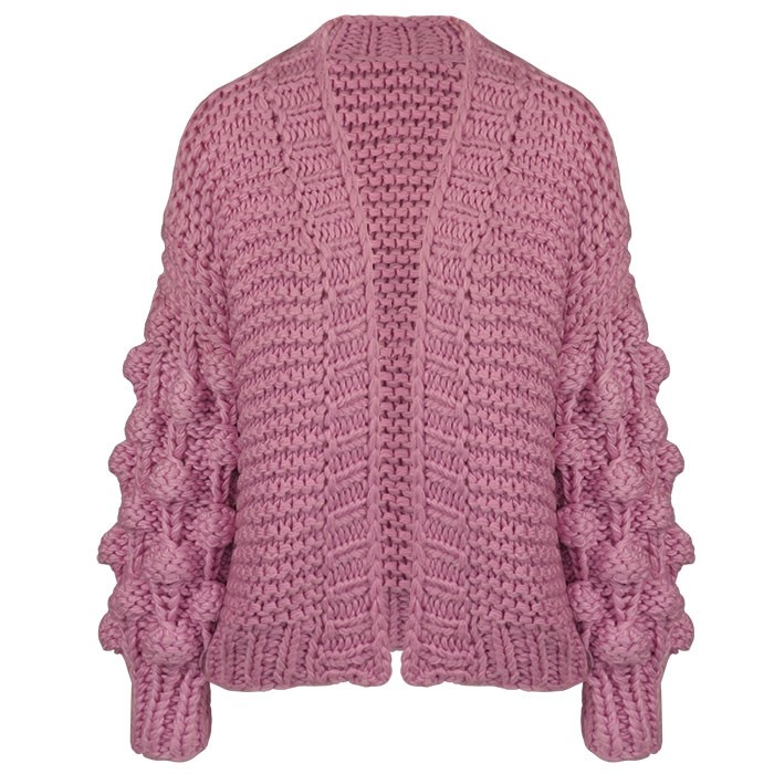Handmade Knitted Cardigan - Lilac