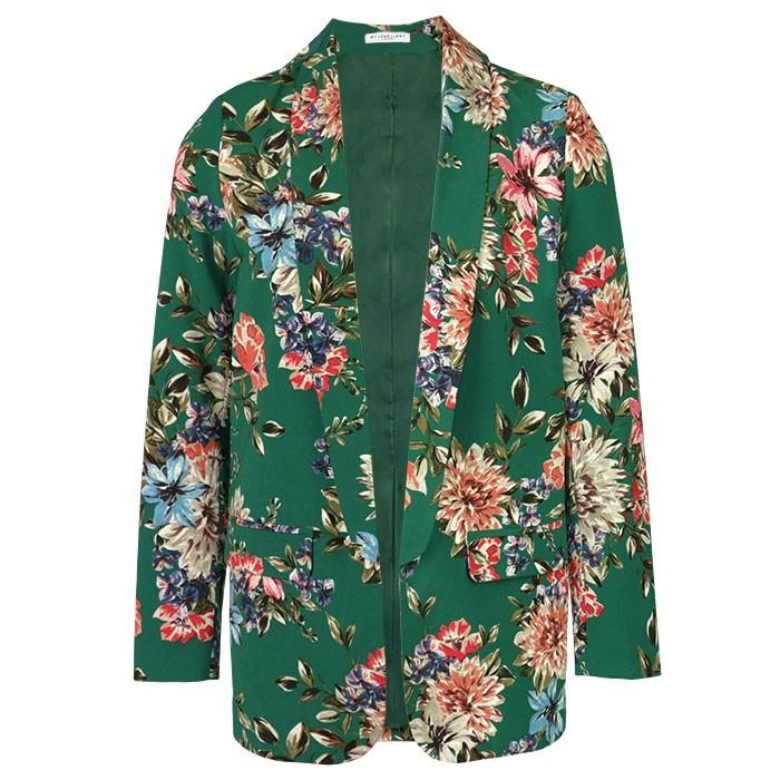 Floral Suit Blazer - Green