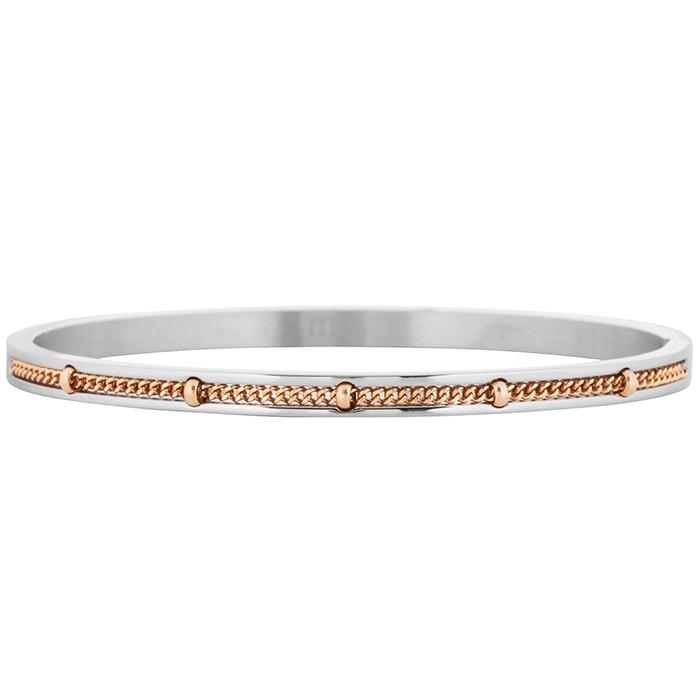 Afbeelding van Armband combinatie zilver en rosé, Armbandjes