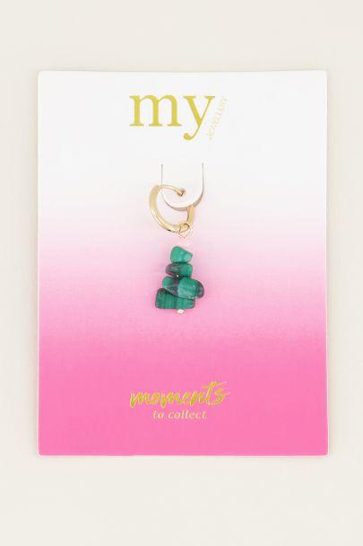 Moments one piece malachite stone | Oorbellen met steen My Jewellery