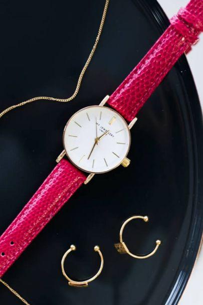 Fuchsia vintage horloge