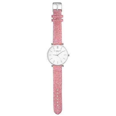 My jewellery limited watch small 2.0 - pink glitter/silver
