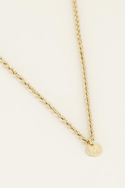 Gouden ketting met initiaal, Minimalistische ketting | My Jewellery