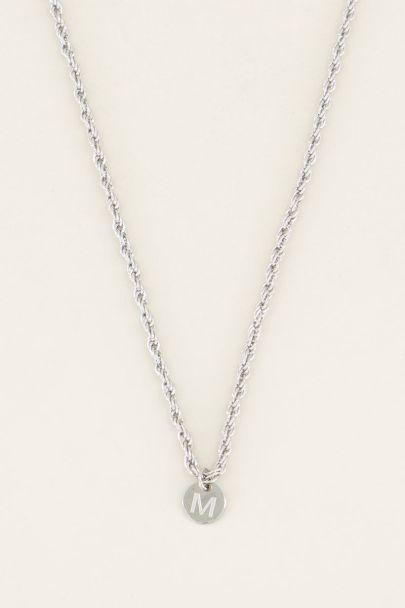 Zilveren ketting met initiaal, Initiaal kettingen My jewellery